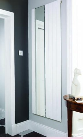 Panio electro mirror designer radiator flat panel agadon for Mirror radiator