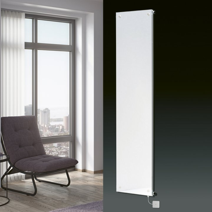 Panio Crystal Glass Mirror Electro Designer Radiator Flat Panel