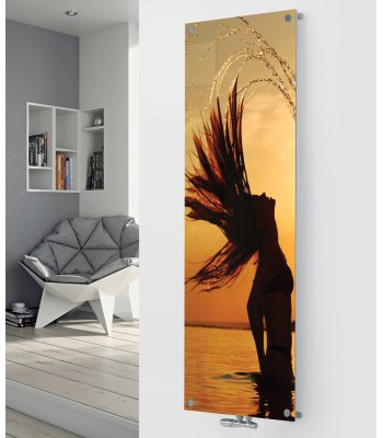 Panio Crystal Glass Designer Radiator P141 WOMEN IN THE SEA