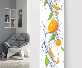 Panio Crystal Glass Picture Designer Radiator P151 ORANGE SLICES IMAGE