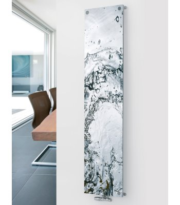 Panio Crsytal Glass Picture Designer Radiator P16 Water Image