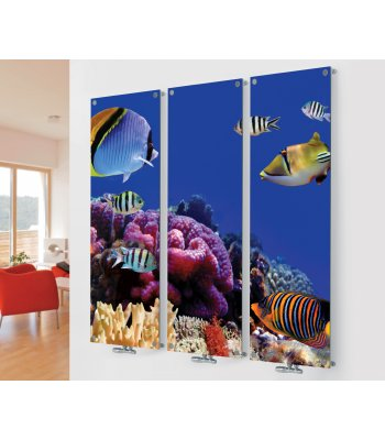 Panio Crystal Glass Designer Radiator M7 Marine Fish Triple  Image