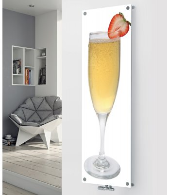 Panio Crystal Glass Designer Radiator P101 Champagne 1 Strawberry Image