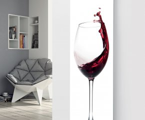 Panio Crystal Glass Designer Radiator P103 Wine Slosh Image