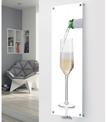 Panio Crystal Glass Designer Radiator P106 Pouring Champagne Image