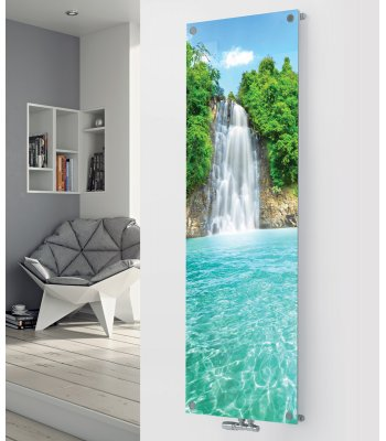 Panio Crystal Glass Designer Radiator P138 WATERFALL