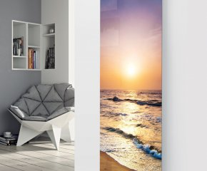 Panio Crystal Glass Designer Radiator P139 SUNSET BEACH