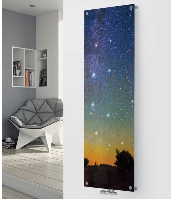 Panio Crystal Glass Designer Radiator P154 STARS IN THE SKY Image