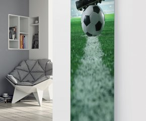 Panio Crystal Glass Designer Radiator P158 FOOTBALL IMAGE Image