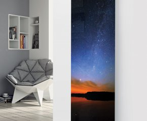 Panio Crystal Glass Designer Radiator P162 Starry night Image