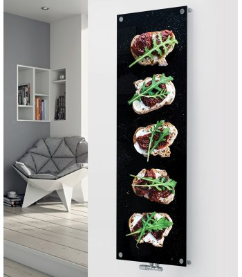 Panio Crystal Glass designer radiator P168 Canapes Image
