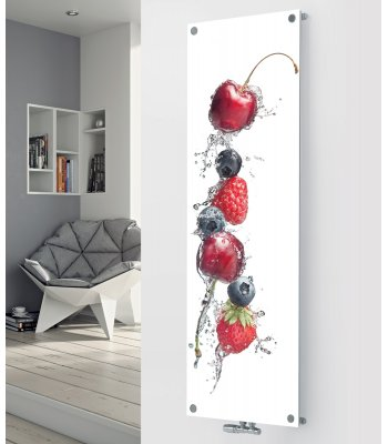 Panio Crystal Glass designer radiator P171 Berry Splash Image
