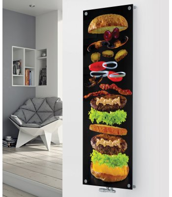 Panio Crystal Glass designer radiator P172 Burger Image