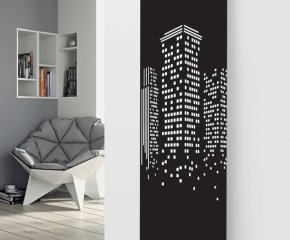 Panio Crystal Glass Designer Radiator P32 Night City Image