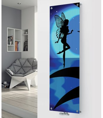 Panio Crystal Glass Designer Radiator P49 Blue Moon Fairy Image
