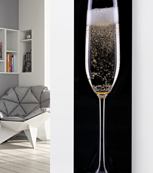 Panio Crystal Glass Designer Radiator P55 Champagne on Black Image