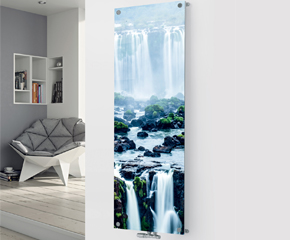 Panio Crystal Glass Designer Radiator P57 Waterfall Image