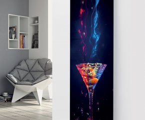 Panio Crystal Glass Designer Radiator P84 Red and Blue Cocktail Image