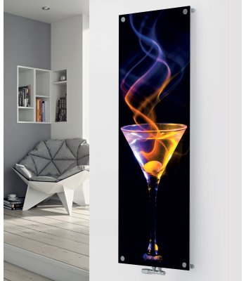 Panio Crystal Glass Designer Radiator P87 Cocktail Spiral Image