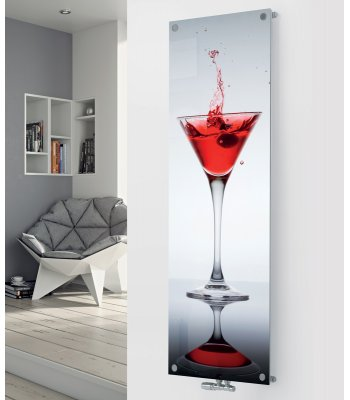 Panio Crystal Glass Designer Radiator P90 Cocktail Splash Image