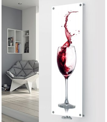 Panio Crystal Glass Designer Radiator P91 Rose Wine Splash Image