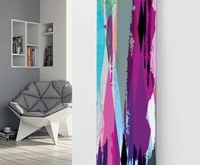 Panio Crystal Glass Designer Radiator P94 Multi Coloured Paint Image