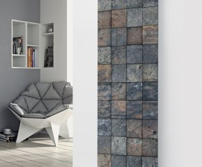 Panio Crystal Glass Designer Radiator P98 Grey Tiled Image
