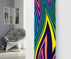 Panio Crystal Glass Designer Radiator P99 Multi Coloured Abstract Image