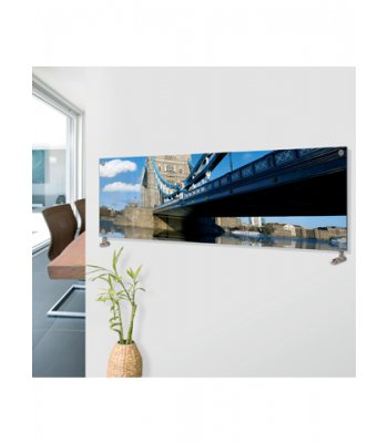 Panio crystal Glass Picture Designer Horizontal Radiator H03 Tower Bridge Image