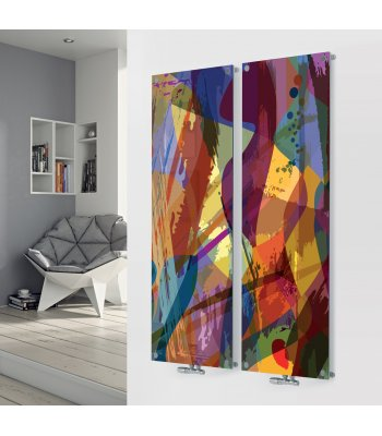 Panio Crystal Glass Picture Designer Radiator D2 Paint Art Double Image