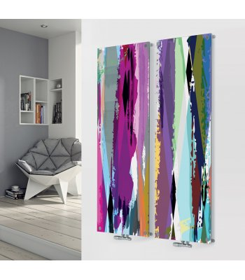 Panio Crystal Glass Picture Designer Radiator D3 Multi Paint Double Image