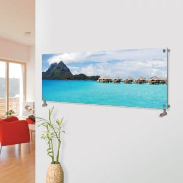 Panio Crystal Glass Picture Designer Radiator  Horizontal H04 Over Water Villas Image