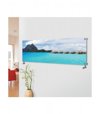 Panio Crystal Glass Picture Designer Radiator  Horizontal H4 Over Water Villas Image