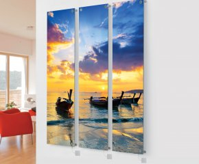 Panio Crystal Glass Picture Designer Radiator M1 Sunset Triple Image