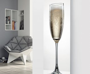 Panio Crystal Glass Picture Designer Radiator P107 Simple Champagne Image