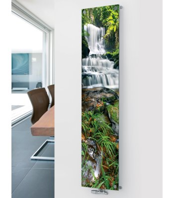 Panio Crystal Glass Picture Designer Radiator P14 Waterfall Image