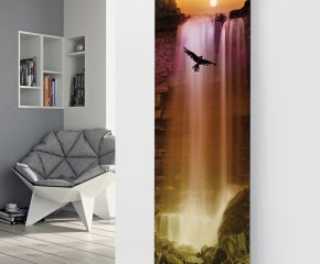 Panio Crystal Glass Picture Designer Radiator P147 DUSK WATERFALL