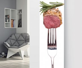 Panio Crystal Glass Picture Designer Radiator P148 LAMB WITH ROSEMARY IMAGE