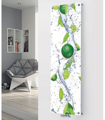 Panio Crystal Glass Picture Designer Radiator P149 WHOLE LIMES IMAGE