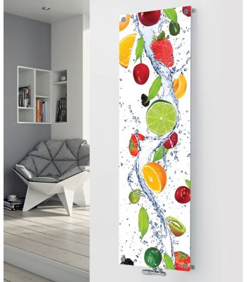 Panio Crystal Glass Picture Designer Radiator P150 FRUIT COCKTAIL IMAGE