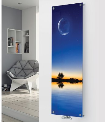 Panio Crystal Glass Picture Designer Radiator P155 Water