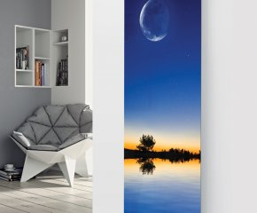 Panio Crystal Glass Picture Designer Radiator P155 WATER AND MOON Image