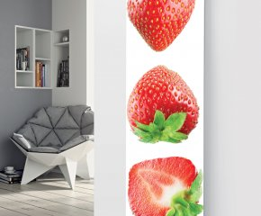 Panio Crystal Glass Picture Designer Radiator P159 THREE STRAWBERRIES Image