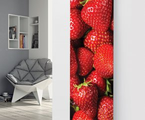 Panio Crystal Glass Picture Designer Radiator P161 STRAWBERRIES Image