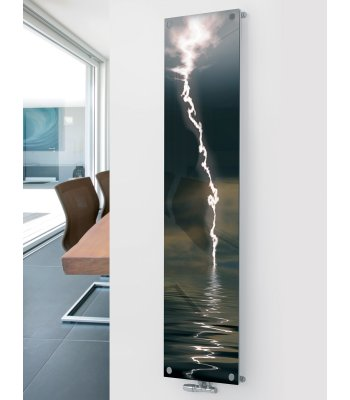 Panio Crystal Glass Picture Designer Radiator P17 Lightening Image