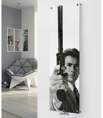 Panio Crystal Glass Picture Designer Radiator P193 DIRTY HARRY IMAGE