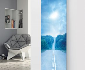 Panio Crystal Glass Picture Designer Radiator P23 Road at Dusk Image