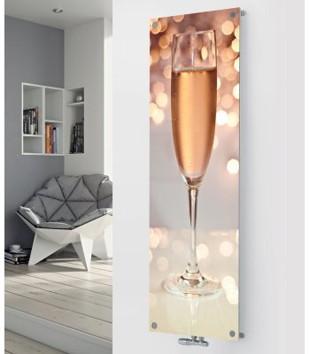 Panio Crystal Glass Picture Designer Radiator P24 Rose Wine Glass Image