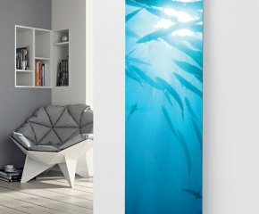 Panio Crystal Glass Picture Designer Radiator P25 Under Water Fish Glass Image