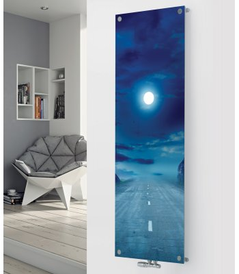 Panio Crystal Glass Picture Designer Radiator P29 Road At Dusk Image